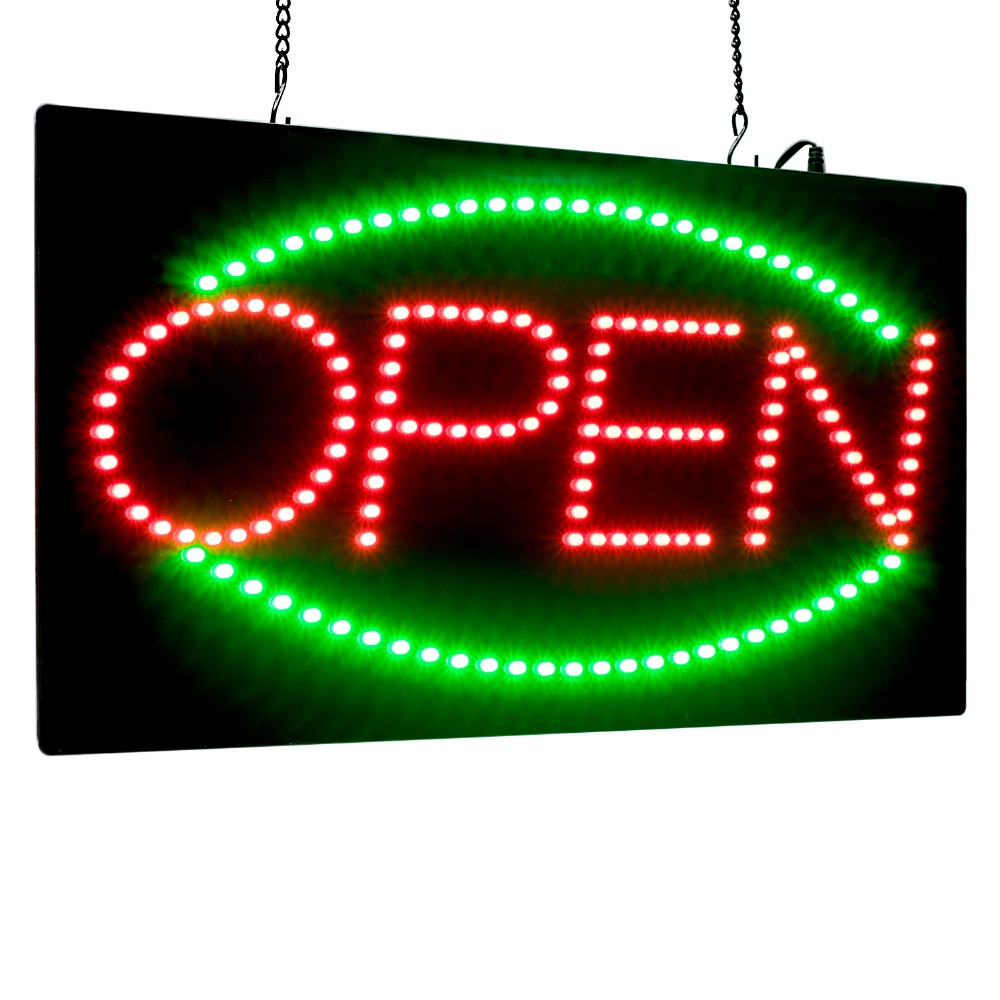 Enseigne open LED animé publicité panneau lumineux center Commercial lumineux animé sport néon Commercial panneau d'affichage avec prise US EU UK
