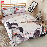hometextile 3D bedding set HD Peacock&Peony High Quality DUVET COVER 2018 NEW YEAR Gift Luxurious bed set elephant 3D bedclothes