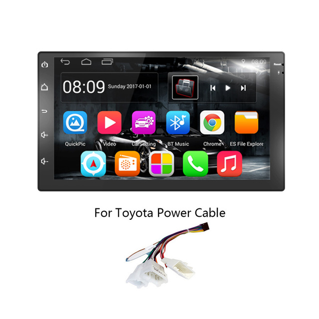TOPSOURCE Car Multimedia Player Universal 7 Inch 2 Din Android Car Radio GPS Car DVD Player GPS NAVIGATION For VW Nissan TOYOTA