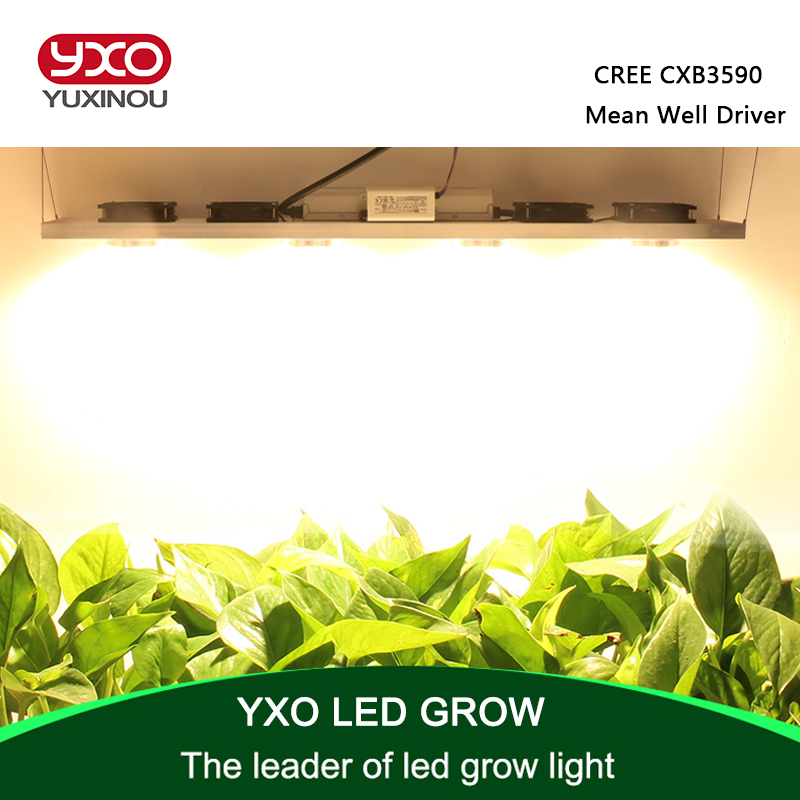 Dimmable CREE CXB3590 400W COB LED Grow Light Full Spectrum 45000LM = HPS 600W Growing Lamp Indoor Plant Growth Lighting Panel