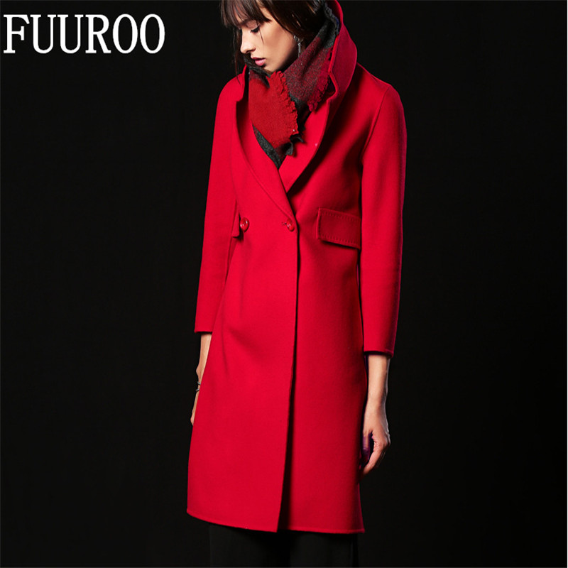 font b Women b font Double side Cashmere Woolen font b Coat b font Ladies