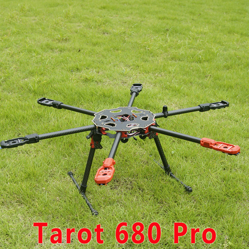 Hot sell Tarot RC 680Pro Frame 6 axis Multicopter Carbon Fiber Hexacopter Frame Kit Multi Rotor Drone FPV RC Diy UAV Frame Kit fpv x uav talon uav 1720mm fpv plane gray white version flying glider epo modle rc model airplane