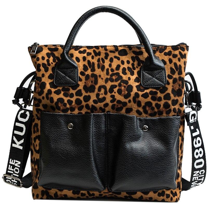 high quality women u0026 39 s new large capacity portable personality leopard cross body bag retro multi