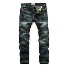 Dark color mens denim biker jeans high quality brand design mens trousers size 28 to 38 straight ripped jeans for men U206 orinery high quality printed jeans men 2017 new arrival brand clothing trousers straight denim biker jeans fashion pants