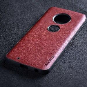 Image 5 - Case for Motorola Moto G7 G6 G5S Plus funda luxury Leather Vintage litchi pattern capa cover for moto g7 g6 g5s plus case coque