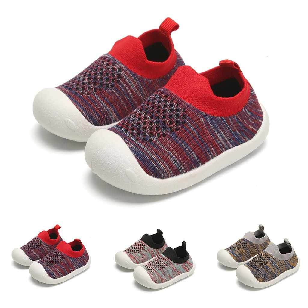 Toddler Children Boys Girls Kids Shoes For Girl Baby Girl Kids Sneakers Striped Outdoors Breathable Mesh Shoes Kids Trainers