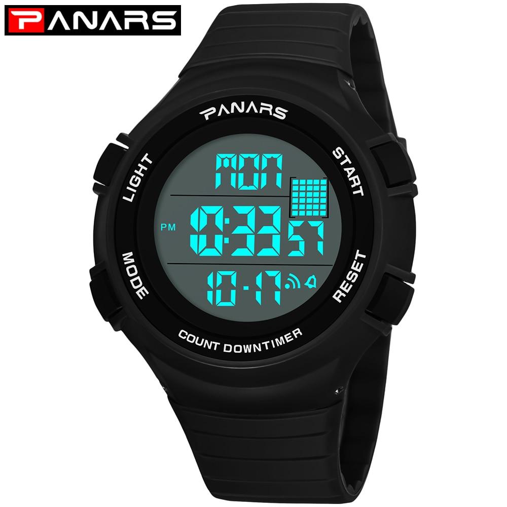 PANARS Wristwatch Mens Digital Watches Sports For Running Chrono Outdoor Watch Man Military Clock Shockproof Waterproof