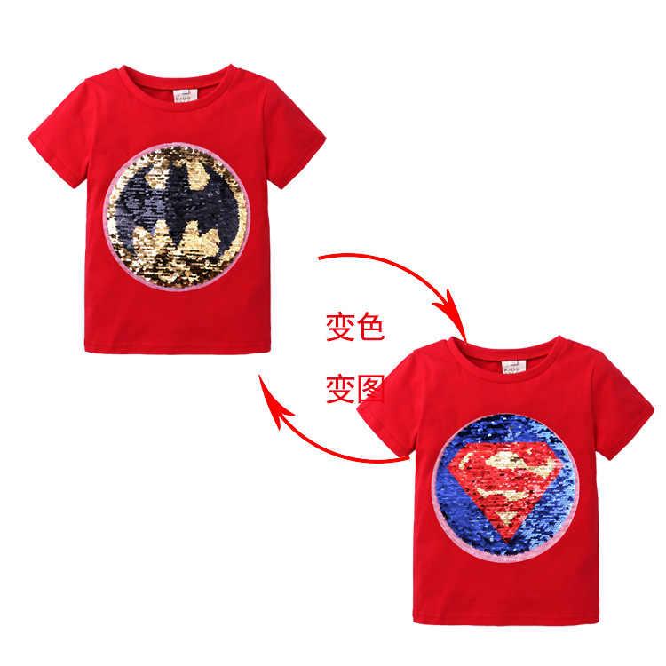 ילדים בני חולצה תינוק כותנה בגדי קיץ חולצה ילדים Cartoon שינוי דפוס למעלה טי גודל 2-6 שנה