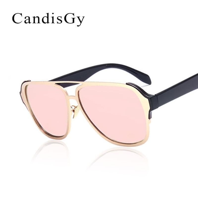 ce5e8b0fca118 Mulheres Espelhar Óculos De Sol Da Moda Marca Designer Lady Rosa óculos de Sol  Óculos Feminino YD104
