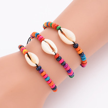 Woman Natural Colorful Shell Beads Charm Bracelets BohemianBeach Jewelry Rope Chain Bracelet  2019 New Fashion Gifts