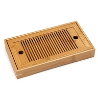 Small Bamboo Tea Set Water Storage Traditional Teaware Kongfu Tea Table Serving Tray Chinese Wooden Tea