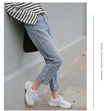 JUJULAND Basic Denim Jeans Classic Women High Waist Vintage Mom Style Pencil Quality Cowboy Pants 3118