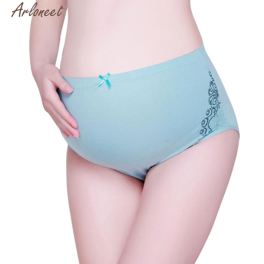 ARLONEET Maternity clothing cotton panties for pregnant women Pure Color Pregnancy natural pregnant panties nov28