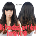 Promotions Women's Wigs From Natural Hair Long Curly Hair With Bangs Synthetic Wigs For Black Women Cheap Sale
