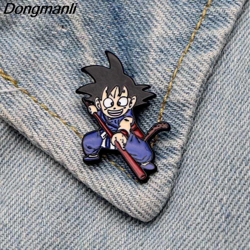P3221 Dongmanli Anime Smalto Spille s In Metallo Carino Collare Spille s e Spille per Le Donne Spilla Monili Risvolto Spille Distintivo