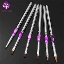 6 Pcs Detachable Nail Art Painting Drawing Pen Brush Set for Acrylic Nail UV Gel Manicure Beauty Tools Brushes Sets