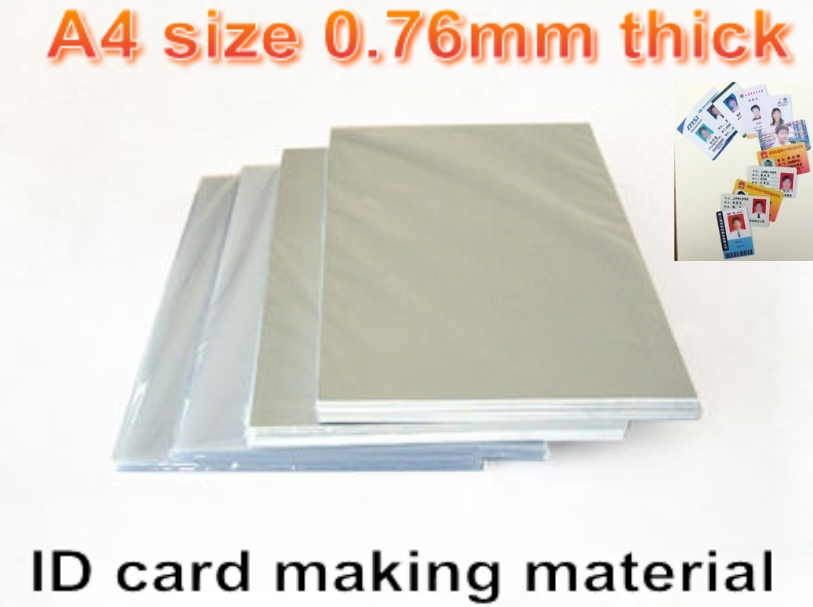 Blank Inkjet print <font><b>PVC</b></font> <font><b>sheet</b></font>(white) for <font><b>PVC</b></font> ID card making ,student card , membership card making material A4 size 0.76mm thick image