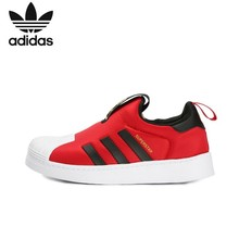 купить Adidas Superstar Original Kids Shoes New Arrival Children Running Shoes Breathable Sports Sneakers #CG6573 по цене 3159.51 рублей