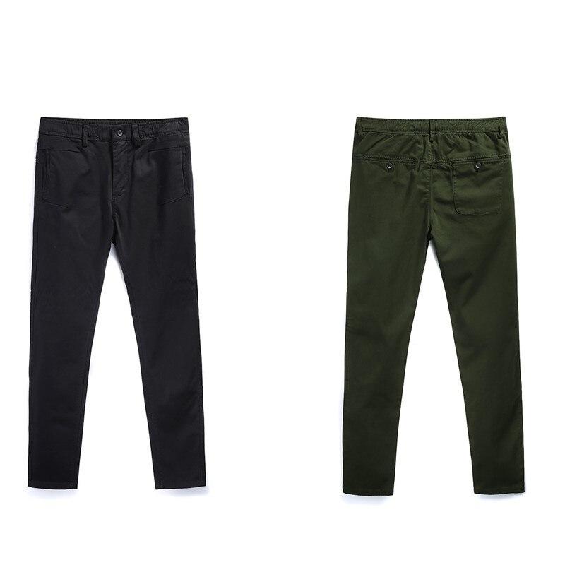 Для мужчин тонкие брюки 2019 ранней весной Повседневное брюки европейский Стиль простой прямой дикий узкие брюки для путешествий работа знак...