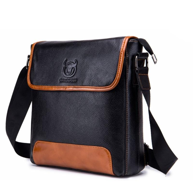 Image 5 - Cow Genuine Leather Messenger Bags Men Travel Business Crossbody  Shoulder Bag for Man Handbags Messenger Small Men Cow LeatherCrossbody  Bags