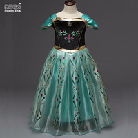 Grils Dress 2016 Children Summer Dress Anna Princess Tutu Dress Halloween Birthday Party Princess Dresses Kids