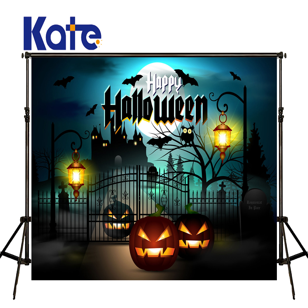 KATE Photography Backdrops Cartoon Halloween Backdrop School Backdrop  Castle Photography Backdrop Halloween Pumpkin Background