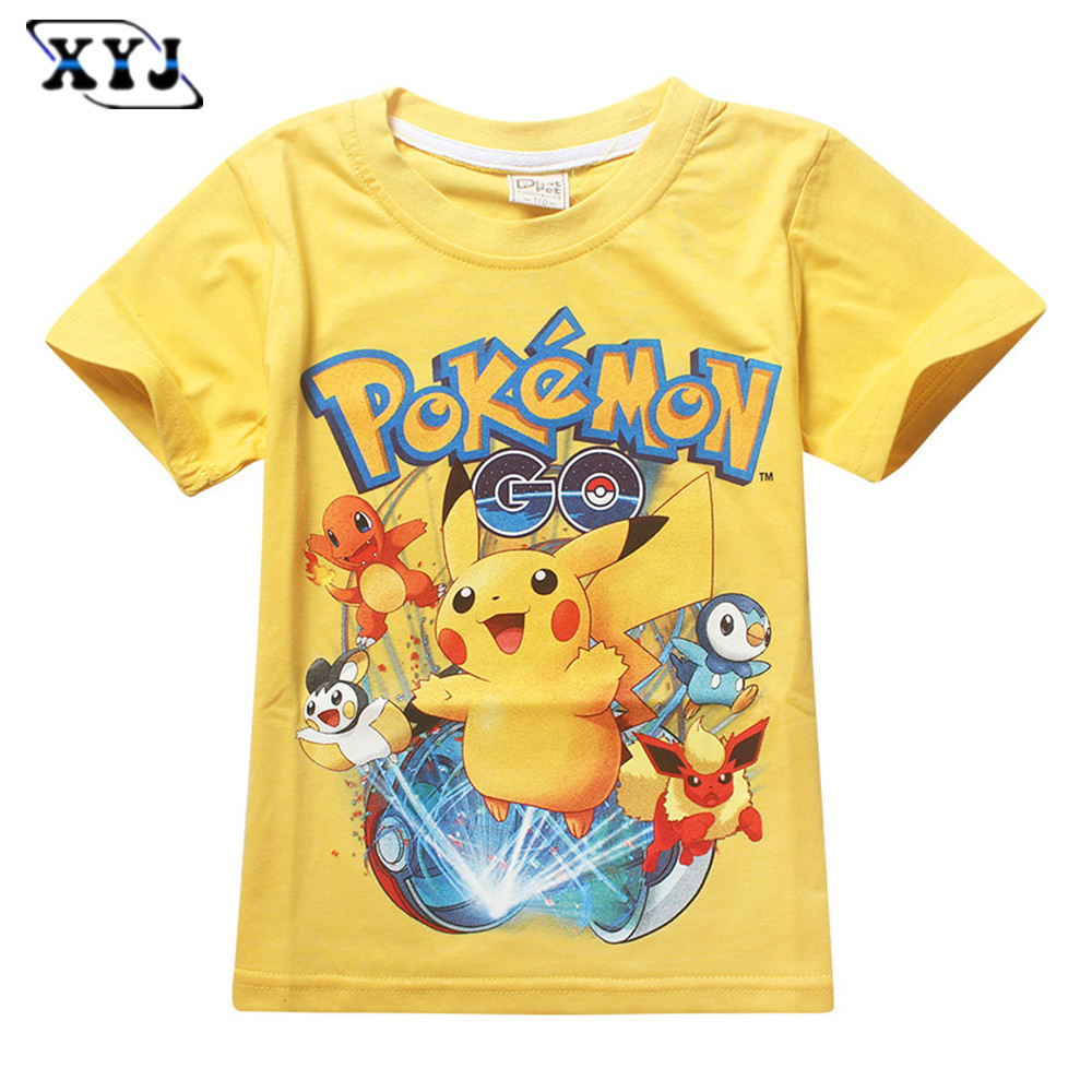 2016 Fashion New Design T Shirt For Kids Pokemon Pikachu T
