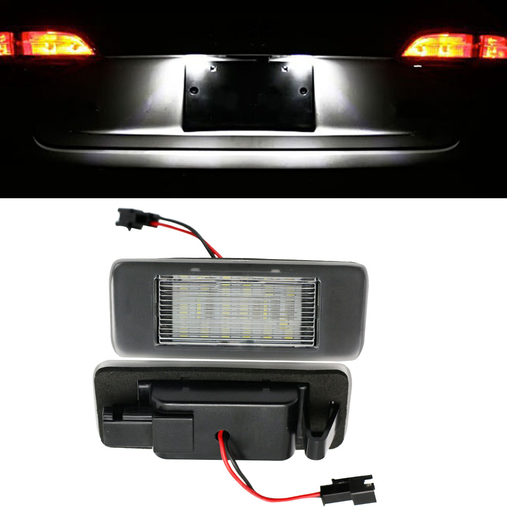 HOPSTYLING 2x White 18 SMD LED Number License Plate Light Module for Opel Vauxhall Astra J Sports Tourer Estate Zafira Tourer C 18 led license plate lights for vauxhall opel astra corsa insignia tigra zafira 18 smd high power led auto lamps
