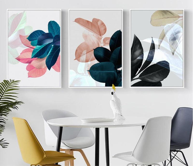 Colorful Leaves Wall Pictures for Living Room Home Decoration Nordic Plants Poster Wall Art Canvas Painting Colorful Leaves Wall Pictures for Living Room Home Decoration Nordic Plants Poster Wall Art Canvas Painting Posters and Prints