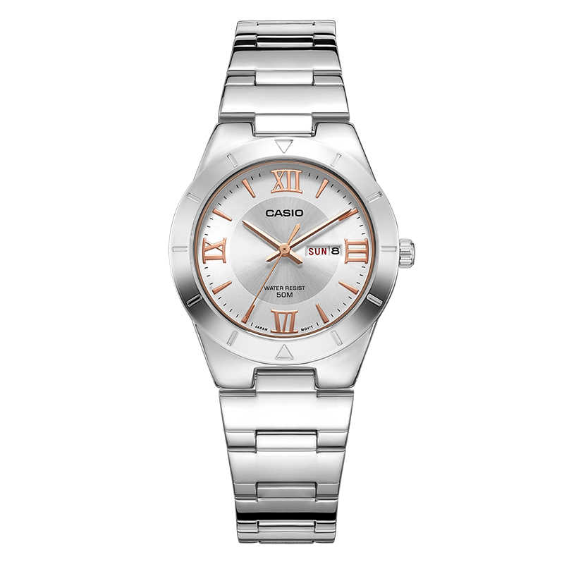 Casio Часы 2018 Новый модный тренд кварцевые часы простые модные  водостойкие полосы женские часы LTP- 798d4e58d36
