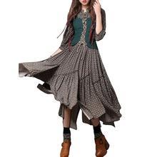 2019 New Yfashion Women Floral Printing Retro Button Embroidered Slim Dress