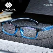 UNIEOWFA-Montura transparente de anteojos para hombre y mujer, gafas graduadas ópticas transparentes con montura TR90, para Miopía