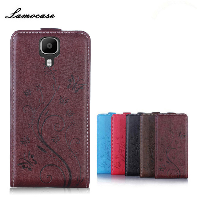 Lamocase Phone Cases For Doogee X9 / X9 Pro Fundas Flower Print Flip Leather Cover Case For Doogee X 9 Pro X9Pro Capa Couqe 5.5