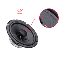 12v 6 5 Inch Car Coaxial Speakers Silk Dome Full Range Bass Treble High Quality Sound