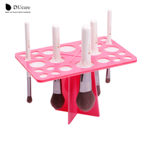 DUcare 1Set Makeup Brushes Stand Acrylic Dry Brushes Holders Hanging Brushes And Drying Brushes Pink And