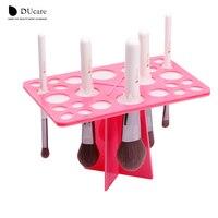 DUcare 1 Conjunto Pincéis de Maquiagem Estande Acrílico Pincéis Secos Titulares rosa e preto pode escolher compõem ferramentas