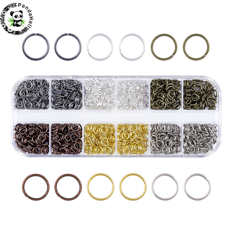 1Box Mixed Color Iron Jumprings, Close But Unsoldered 5x0.7mm About 1320pcs/box 220pcs/color