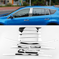 20PCS/SET Car Styling Stainless Steel Full Window Trim Decoration Strips For Toyota RAV4 2016 Car sticker