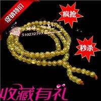 Natural rutilated bracelet titanium crystal 108 granules beads bracelet lucky