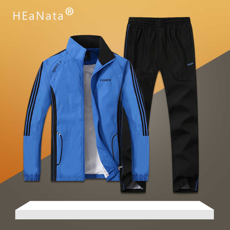 New Men Sport Suits Gym Sets Spring Running Sets Men Tracksuits  Basketball Jogging Fitness Training Suits Sweatshirt +Sweatpant