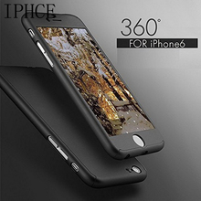 Luxury 360 Degree Full Cover Case For iPhone 5 5se 6 6s 7 Plus With Tempered Glass For Phone Bags Cases Mobile Phone Case New