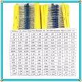 3000 pz/lotto 1/4 W 150 valori di X20pcs = 3000 pcs Resistenza pacchetto di Film Metallico Resistor Kit 1R ~ 10 M Resistor Pack 0.25 W 1% Kit Assortiti