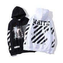 Men's100% Cotton Splash Ink Sweatshirt Hip Hop Striped Hoodies Street Style Print Loose off White Black Baseball Uniform