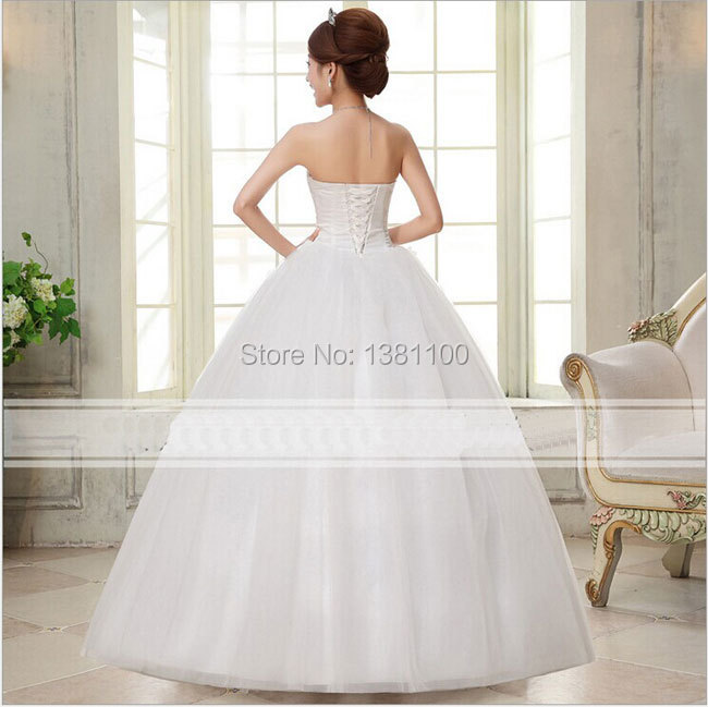 f295145e49f 2015 New Lace Up Strapless Heart shaped Diamond Full Long Maxi Tube Top  Bridal Gown Wedding Dress Free shipping-in Wedding Dresses from Weddings    Events on ...