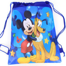 8d170cbfa1d 1Pcs Mickey Mouse Theme Boys Favors Birthday Party Non-Woven Fabric Backpack  Drawstring Bags Kids