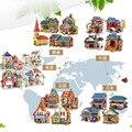 3D Деревянные Головоломки DIY Модель Детей Игрушки Норвегия Япония Стиль дом Здание Головоломки Деревянные 3D Головоломки Игрушки для детей образование