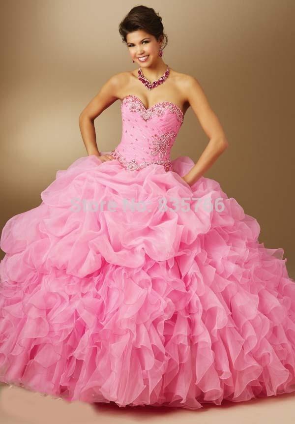 vestidos 15 anos 2016 quinceaneras Dresses Organza with Removable ...