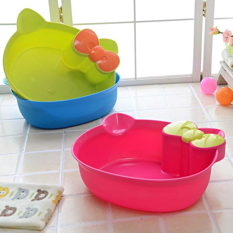 2017 Creative Cat Home Fashion Shatterproof Baby Washbasin Foot
