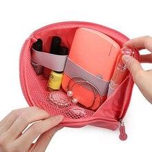 Convenience Travel Storage Bag Mesh Cloth Digital Gadget USB Cable Earphone Pen Pouch Case Pocket Cosmetic Organizer Shockproof