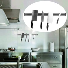 High Quality Strong Magnetic Knife Holder Tool Rest Shelf For Kitchen Pub Bar Counter Black Knife Holder Kitchen Hanging Rack